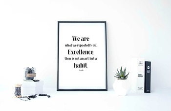 """Inspirational Poster """"We are what we repeatedly do.""""-Aristotle-"""