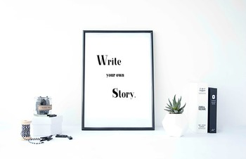 Inspirational Poster, Write your own story