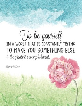 Inspirational Poster about being yourself - Ralph Waldo Emerson