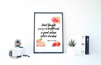 "Inspirational Poster""Great thoughts speak only to the thou"