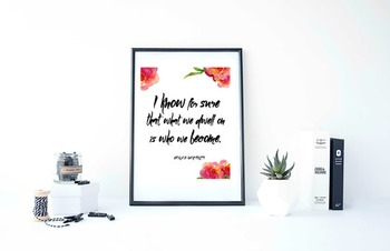 """Inspirational Poster""""I know for sure that what we dwell on"""