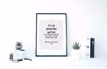 """Inspirational Poster,""""It is an interesting question"""" -Henr"""