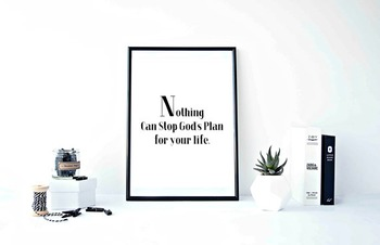 """Inspirational Poster""""Nothing Can Stop God's Plan for your life"""""""