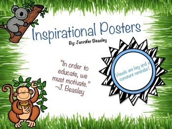 Inspirational Posters--Jungle Theme