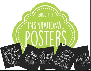 Inspirational Posters, Motivational Posters, Printable Art
