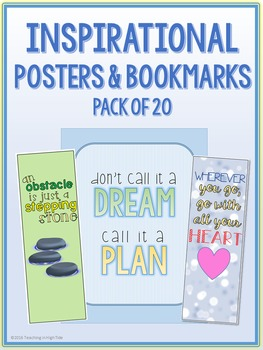 Inspirational Posters and Bookmarks {20 Pack}