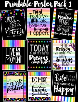Inspirational Printable Poster Pack #1 {Creative Paper Col