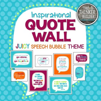 "Inspirational QUOTE WALL: ""Speech Bubble"" Theme {Juicy Colors}"