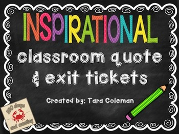 Inspirational Quote & Exit Tickets
