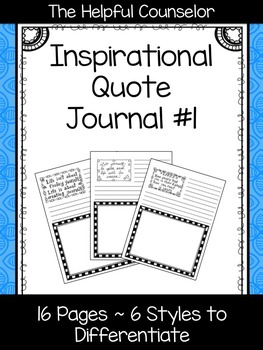 Inspirational Quote Journal #1