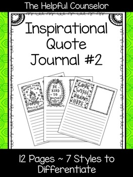 Inspirational Quote Journal #2