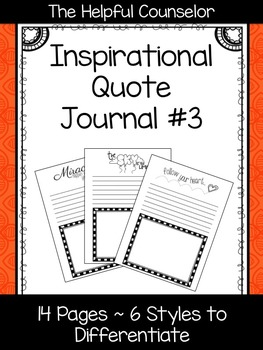 Inspirational Quote Journal #3