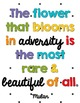 Inspirational Quote Posters - Rainbow and Dot, Room Decor