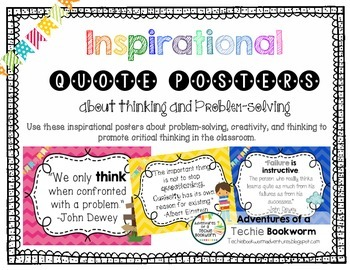 Inspirational Quote Posters- Thinking and Problem-Solving