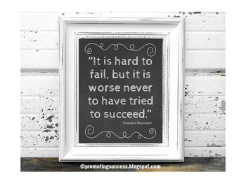 Inspirational Quote Poster about Success by President Roos