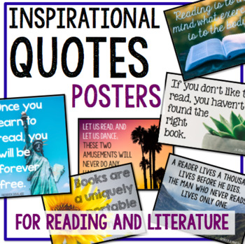Inspirational Quotes Posters for Reading and Literature