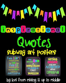 Inspirational Quotes Subway Art Posters (Chalkboard & Neon