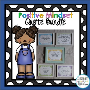 Positive Mindset Quotes BUNDLE to Use in your Classroom or Office