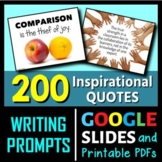 Inspirational Quotes Writing Prompts - 200 Postcard-Size Cards