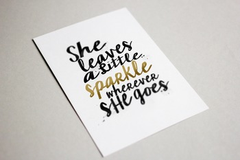 Inspirational Wall Art She Leaves Sparkle 11x14