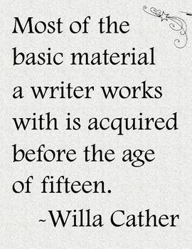 Inspirational Writing / Writing Workshop Poster: Willa Cat