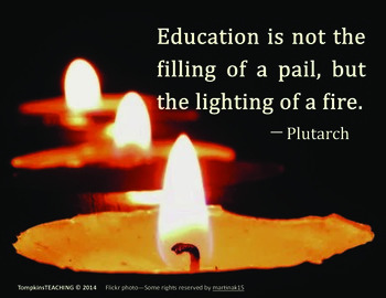 Inspire Card - Education Lights a Fire