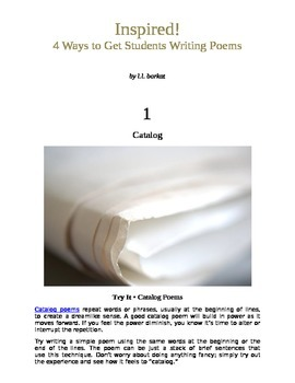 Inspired: 4 Ways to Get Students Writing Poems