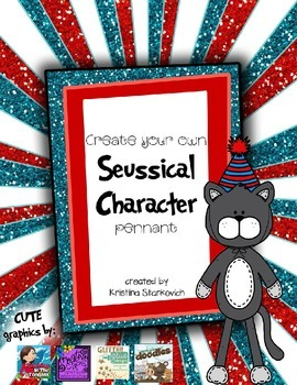 Create your own Silly Character Pennant for Read Across America
