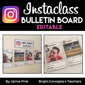 Instaclass- EDITABLE Instagram Back To School Display