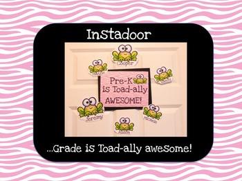 ...Grade is Toad-ally Awesome-Instadoor Decor or Bulletin Board