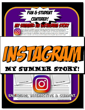 Instagram My Summer Break Fun Back to School Icebreaker
