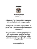 Instagram Vocabulary Project