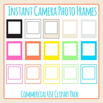 Instant Camera Frames in the Style of Polaroid or Instagra