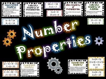 Number Properties: Instant Math Bulletin Board with BONUS