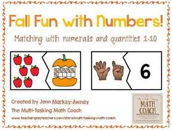 Instant Math Center ~ Matching Numerals 1-10 to Representa