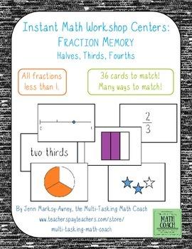 Instant Math Workshop Centers: Fraction Memory (Grade 2)