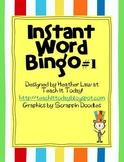 Instant Word Bingo #1