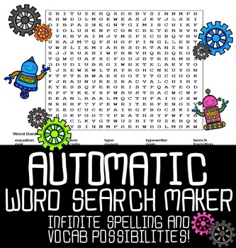 Automatic Word Search Maker