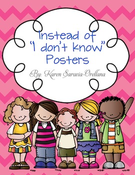 "Instead of ""I Don't Know"" Wall Posters (Bulletin Board Set)"