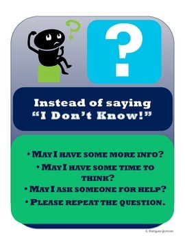 """Instead of Saying, """"I Don't Know"""""""