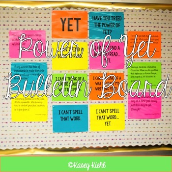 """Instilling Growth Mindset for Readers and Writers: """"Yet"""" B"""