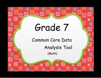 Instructional Analyis Tool - Common Core Math Grade 7