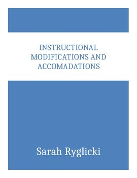 Instructional Modifications and Accommodations
