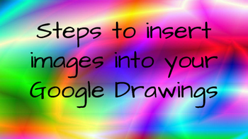 Instructions for Inserting Images into Google Drawings