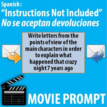 Instructions not included - Movie activity in Spanish