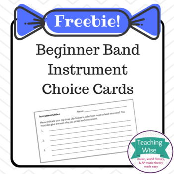 Instrument Choice Cards