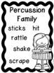 Instrument Families Posters - Color, black & white, PLUS e