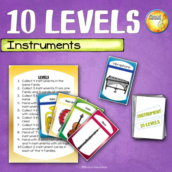 Instrument Family 10 Levels - Music Center and Sub Activity