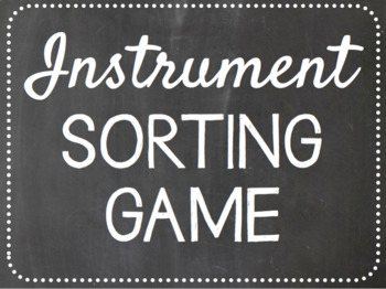 Instrument Family Game
