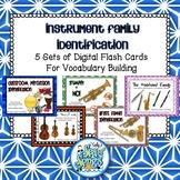Instrument Family Identification Digital Flash Card Bundle